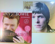 Online veilinghuis Catawiki: David Bowie - Great lot of 2 albums: a total of 4 LP's * Birthday Celebration (Live in NYC) / 1966