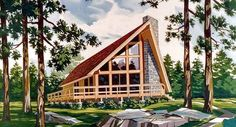 House Plan 90603 | A-Frame Cabin Contemporary Vacation Plan with 1416 Sq. Ft., 3 Bedrooms, 2 Bathrooms at family home plans