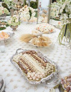 A pretty please - fancy that - tic tock - sofreh aghd collaboration… Wedding Reception Decorations, Wedding Themes, Wedding Designs, Wedding Table, Wedding Ceremony, Wedding Ideas, Iranian Wedding, Persian Wedding, Haft Seen