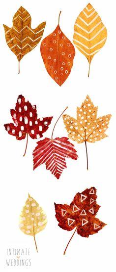 DIY Printable Autumn Leaves