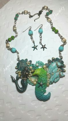 August Challenge necklace and earrings.  Aurora Designs Jewelry by Marcia Tuzzolino.
