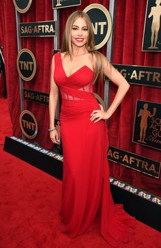 Pin for Later: The Fashion Choices at the SAG Awards Deserve 5 Stars Sofia Vergara Sofia Vergara knows what works for her! The Modern Family star chose a one-shoulder Donna Karan Atelier dress that accented her flawless figure.