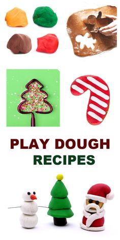 HOLIDAY PLAY DOUGH: Easy recipes for Christmas play dough (Gingerbread, candy cane, sugar cookie, & more!) #playdough #playdoughrecipe #playdoughrecipenocook #christmasplaydough #christmasplaydoughrecipe #playdoughrecipeeasy #growingajeweledrose Christmas Arts And Crafts, Fun Arts And Crafts, Christmas Games, Kids Christmas, Christmas Activities, Easy Playdough Recipe, Cooked Playdough, Educational Activities For Kids, Craft Activities For Kids