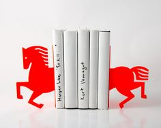 Bookends  Neon horse 2014   laser cut from by DesignAtelierArticle, €31.00