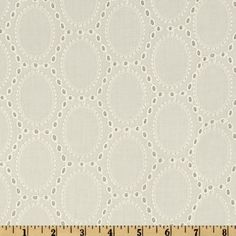 Alix Eyelet Ivory/It would be cute to transfer photos or embroidery a little something in each oval. LY