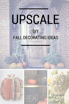 Though Arizona doesn't get much of a fall, I still love decorations this time of year. These upscale fall decorating ideas are sure to make your home beautiful this year!