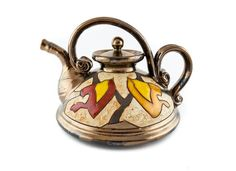 Handmade Ceramic Teapot 23oz Classic Style Autumn - Handmade Ceramics and pottery | Teapots, Coffee and Tea Mugs, Vases, Bowls, Plates, Ashtrays | Handmade stoneware - 1