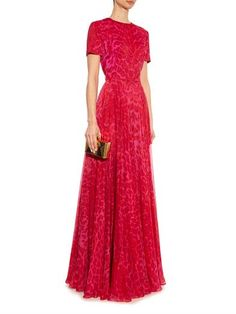 Alexander McQueen silk gown
