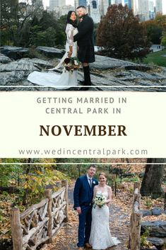 Getting Married in Central Park, New York in November - Fall / Autumn Wedding Top Wedding Trends, Fall Wedding, Wedding Styles, Dream Wedding, Autumn Weddings, Wedding Advice, Wedding Planning Tips, Wedding Planner, Destination Wedding