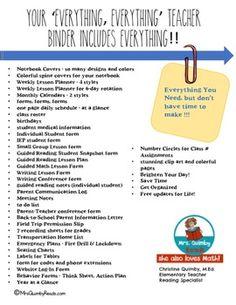Editable Teacher Binder FREE Updates for Life-... by MrsQuimbyReads | Teachers Pay Teachers