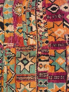 Colorful Moroccan | From a unique collection of antique and modern moroccan and north african rugs at https://www.1stdibs.com/furniture/rugs-carpets/moroccan-rugs/
