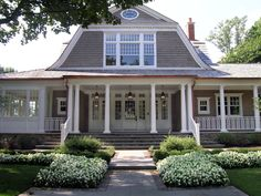 Love this house with the gambrel roof line and wrap around porch. Description from pinterest.com. I searched for this on bing.com/images