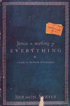 Jesus + Nothing = Everything | sermon series poster design by Tony Serge