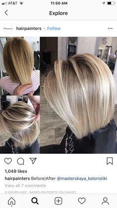 79 short bob hairstyles for the modern woman - Hairstyles Trends Medium Hair Styles, Short Hair Styles, Medium Fine Hair, Bob Hairstyles For Fine Hair, Medium Bob Hairstyles, Hair Color And Cut, Hair Affair, Great Hair, Balayage Hair