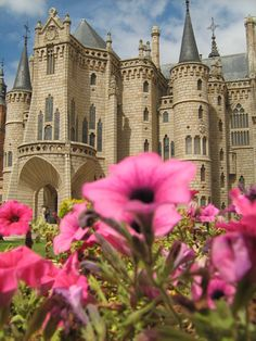 "Palacio Episcopal de Astorga - León, España For my castle tour for inspirational places to write my children's books: ""Margaret Merlin's Journal"" A female wizard."