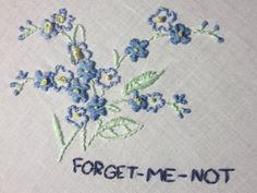 forget me not embroidery Polly Pocket, Kingdom Hearts, Ravenclaw, Eugeo Sword Art Online, Sayaka Miki, All The Bright Places, Lily Evans, Forget Me Not, Life Is Strange
