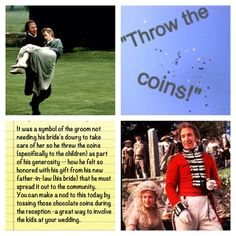 Throw the coins! I want to do this, the Chocolate coin version, at my wedding reception, for a few reasons; coz I Love Sense and Sensibility, coz I love kids, coz I love games and coz I love traditions ^_^