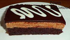 Greek Sweets, Greek Desserts, Trifle Desserts, Party Desserts, No Bake Desserts, Greek Recipes, Sweets Recipes, Candy Recipes, Greek Cake