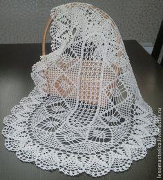 """Текстиль, ковры ручной работы. Ярмарка Мастеров - ручная работа Салфетка """"Шишечки"""". Овальная, вязаная крючком, салфетка, мини-скатерть. Handmade."""