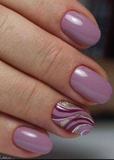 Magenta and lilac wave nails designs fashion Nowadays nail art is the latest fashion trend, therefore, girls should be aware of the latest nail . Lilac Nails, Purple Nail Art, Pink Purple, Purple Nails With Design, Nails Design, Lavender Nails, Fingernail Designs, Cool Nail Designs, French Nails