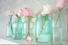 Vintage Blue Mason Jar DIY - Mason Jar Crafts Love