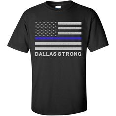 Dallas Strong Pray For Dallas Thin Blue Line Support T Shirt. Product Description We use high quality and Eco-friendly material and Inks! We promise that our Prints will not Fade, Crack or Peel in the wash.The Ink will last As Long As the Garment. We do not use cheap quality Shirts like other Sellers, our Shirts are of high Quality and super Soft, perfect fit for summer or winter dress.Orders are printed and shipped between 3-5 days.We use USPS/UPS to ship the order.You can expect your…