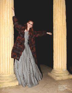 The signature Fendi FW15 geometric printed wool coat featured in the December issue of @tatleruk