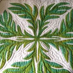 Hand Dyed Hawaiian Applique Palm Leaf Pillow by ThreadsOfMeaning, $45.00