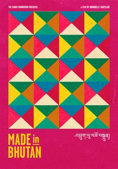 Jules Tardy, Made in Bhutan, Poster, featuring coloured triangle pattern