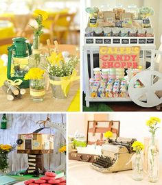 Old Fashioned Summer Party.  Can be used as a first birthday party, summer picnic, or just an excuse to get together and enjoy the summer evenings.  (KarasPartyIdeas.com)