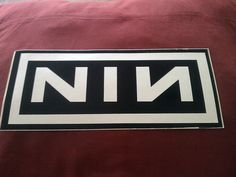 "Nine Inch Nails 10.25""x4.5"" Large Sticker Decal new old stock"