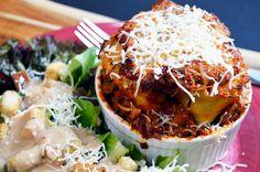 Single Serving Mini Lasagna ~ The Starving Chef