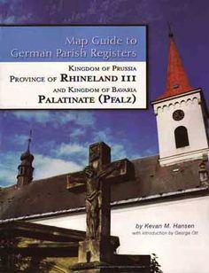 Map Guide To German Parish Registers - Rhineland III - RB Trier & The Pfalz (Palatinate)