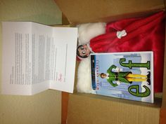 Elf on the Shelf.  Day 1, 2012.  Letter from Santa with our elf, Sugar. She also brought her favorite movie, Elf!