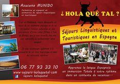 Carte de visite d'Azucena. Elle vous fait découvrir l'Espagne autrement.