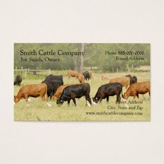 Cattle dairy farmer business card agriculture business cards cattle dairy farmer business card colourmoves