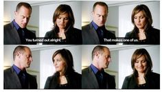 Eliot Stabler and Olivia Benson  Law and Order SVU ♡♡♡♡