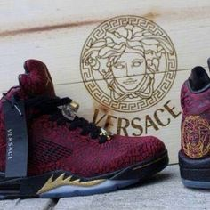 Air Jordan 5 '3Lab5 x Versace' Custom #airjordans #customjordans #versace #jordans #shoes
