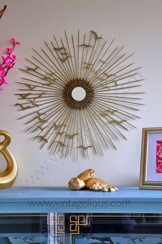 DIY: Espejo de sol vintage   Decorar tu casa es facilisimo.com