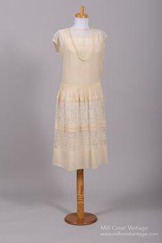 1920 Gatsby Lace Vintage Wedding Dress , Vintage Wedding Dresses - 1920 Vintage, Mill Crest Vintage  - 1