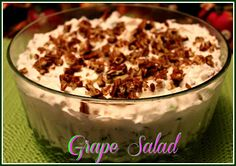 Sweet Tea and Cornbread: Shari's Grape Salad!