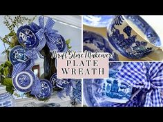 """No Glue"" Vintage Plate Wreath Tutorial – The Little Jewel Box Thrift Store Crafts, Arts And Crafts, Diy Crafts, Vintage Plates, Wreath Tutorial, Second Hand, Decorative Items, Thrifting, Diy Projects"