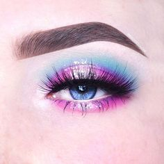"""1,375 Likes, 21 Comments - BeautyCloudNL Anneloes Debets (@anneloesdebets) on Instagram: """"100 Days of Makeup - Day 80/100  Cotton Candy Inspired eyelook collab with the amazing @BeccaBoo318…"""""""