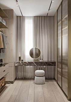 Magnificent Modern Marble Interior With Metallic Accents En images ideas from Home Inteior Ideas Walk In Closet Design, Bedroom Closet Design, Closet Designs, Bedroom Decor, Bedroom Wardrobe, Wardrobe Doors, Wardrobe Design, Black Wardrobe Closet, Bedroom Couch