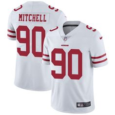 Youth Nike San Francisco 49ers #90 Earl Mitchell White Vapor Untouchable Limited Player NFL Jersey
