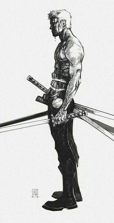 Manga Character Drawing One Piece, Roronoa Zoro. One Piece Anime, Zoro One Piece, Roronoa Zoro, One Piece Tattoos, Pieces Tattoo, Samurai Art, Character Drawing, Character Sketches, Animes Wallpapers