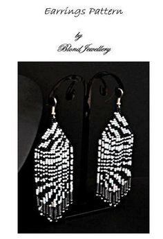 Zebra Earrings pattern Pdf on Etsy, $5.00