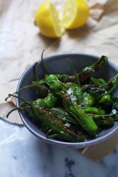 Blistered Shishito Peppers with Lemon and Sea Salt   The Baker Chick