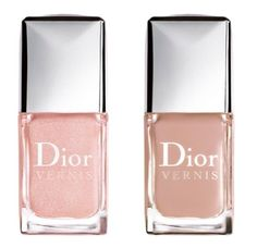 Dior nail polish in nude & natural beige