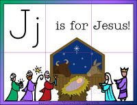 j is for jesus (see other activities)